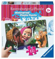 Puzzle Máša a Medvěd 12 plast. dílků I - MÁŠA S VEVERKOU