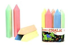 Křídy maxi trojúhelník 5ks barevné 20cm v sáčku