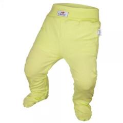 Kalhoty s ťapkami tenké ANGEL - Outlast® LIMETKOVÉ
