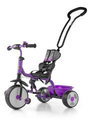 Dětská tříkolka se zvonkem Milly Mally Boby New fialová