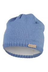 Čepice pletená hladká Outlast® - Šedomodrá