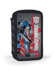 Dvoupatrový penál plný Transformers MODRO-ČERVENÝ