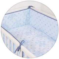 Povlečení do postýlky 3 dílné 100 x 135 cm Ceba - Hvězdy modrá
