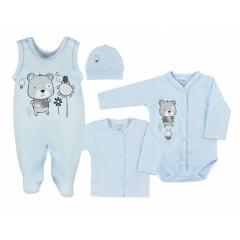 4-dílná kojenecká souprava v Eko krabičce Koala Darling modrá Vel. 62
