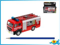 Auto hasiči 14cm kov se světlem a zvukem