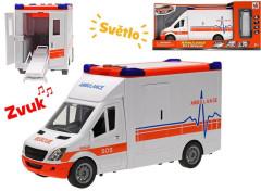 Auto ambulance 27 cm na setrvačník se světlem a zvukem
