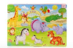 Pěnové puzzle 24 dílků zoo
