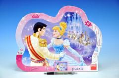 Puzzle deskové Zamilovaná Popelka 35x28cm 25 dílků