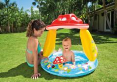Bazén dětský Muchomůrka se stříškou 102x89 cm Intex