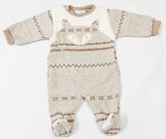 Zimní kombinéza liška norský vzor béžová Baby Service vel. 56