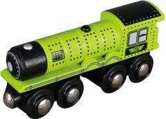 Dřevěná lokomotiva zelená