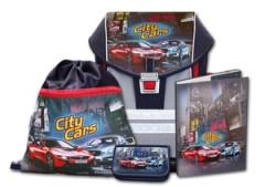 Školní aktovkový set ERGO ONE City Cars 4-dílný Emipo