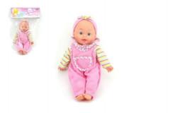 Panenka/miminko s měkkým tělíčkem na baterie a se zvukem 30 cm