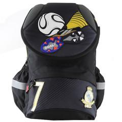 Školní batoh Goal - 3D kopačka a míč - černo-šedý