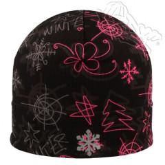 Funkční reflexní čepice černá s růžovými tvary RDX