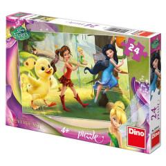 Puzzle Fairies a Kuřátko 26,4x18,1cm 24 dílků