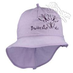 Dívčí letní klobouk s plachetkou Motýlci Fialový RDX