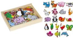 Dřevěné magnetky zvířata 20 kusů