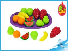Sada ovoce 15ks s podnosem 32cm