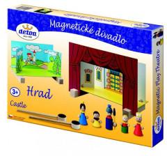 Divadlo magnetické dřevěné hrad
