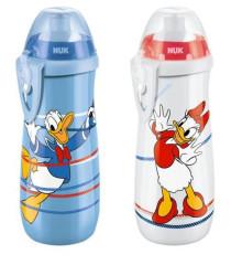 First Choice Láhev Sports Cup 450 ml, Silikonové push-pull pítko Disney - Donald