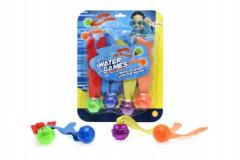 Zábavné míčky pro potápění 4ks se světlem na baterie