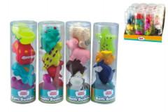Stříkací gumové figurky zvířátka/autíčka do vany 4ks
