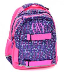 Anatomický batoh OXY One Molekuls Lila