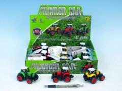 Traktor kov 8cm na zpětné natažení
