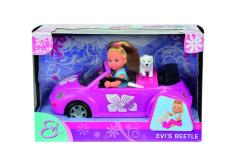 Panenka Evička s autem New Beetle s přísl.