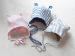 Čepička kojenecká Baby Service PRUH podšitá s oušky vel. 56 - 74