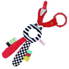 Edukační hračka Hencz s chrastítkem - červený zajíček