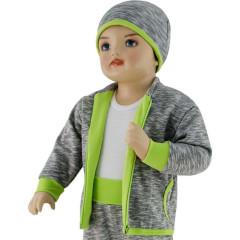 Dětská mikina David Esito Šedá + zelená