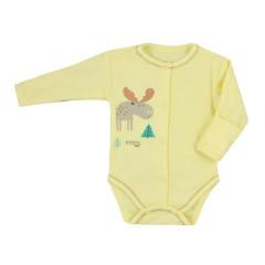 Kojenecké celorozepínací body Koala Happy Baby žluté