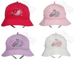 Dívčí zavazovací klobouček ŠNEK vel. 44