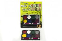Obličejové barvy na kartě 3 barevné kombinace