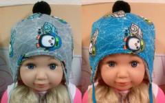 Zimní chlapecká zavazovací čepice s TUČŇÁKEM