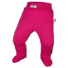 Kalhoty s ťapkami tenké ANGEL - Outlast® MALINOVÉ