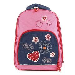 Školní batoh Fashion Line - Jeans Flower