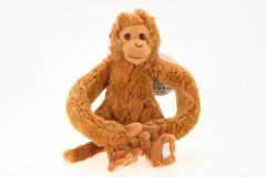 Plyšová Opička s možností nosit na krku malá
