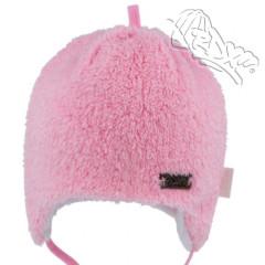 Zavazovací čepice podšitá bavlnou zdobená plíškem Růžová RDX