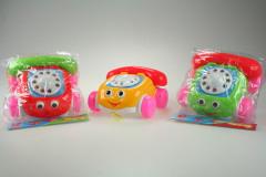 Tahací telefon se zvonkem a očima