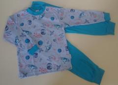 Bavlněné pyžamo planety modré vel. 110