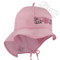 Dívčí letní vázací klobouk s plachetkou Krab Růžový RDX
