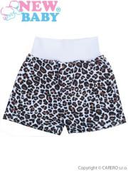 Kojenecké kraťásky New Baby Leopardík hnědé vel. 74