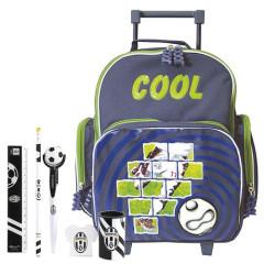 Školní batoh Cool trolley set - 6dílná sada