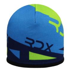 Zimní čepice s trojúhelníky fleece zeleno-modrá RDX