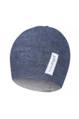 Čepice podšitá JEANS Outlast® Jeans / šedý melír