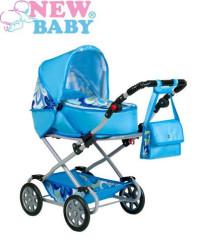 Dětský kočárek pro panenky 2v1 New Baby Monika modrý