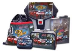 Školní aktovkový set ERGO ONE City Cars 5-dílný Emipo